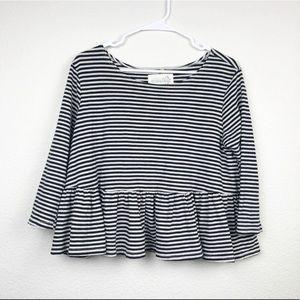 Free People | Striped Peplum Style Shirt